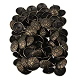 Antique Bronzy Iron 19x15mm Furniture Decor Upholstery Daisy Nail Tacks Studs Pack of 100