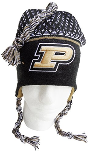 NCAA Purdue Boilermakers Toboggan Hat, One Size, Black