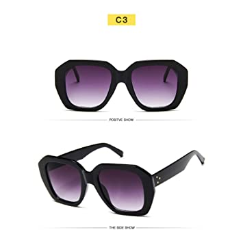 YLNJYJ Gafas De Sol Nuevo Rectángulo Gafas De Sol Mujeres ...