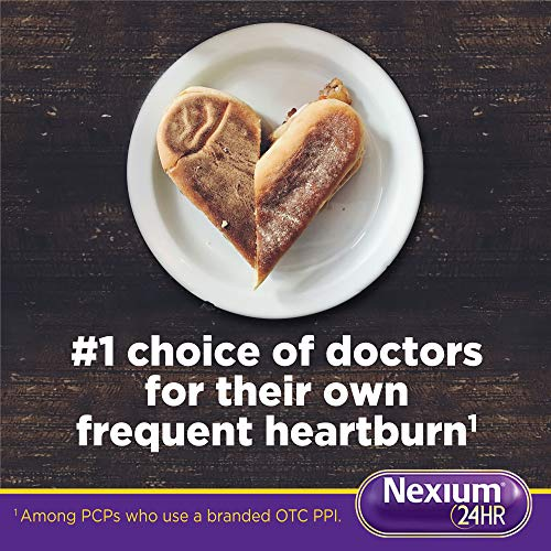 Nexium 24HR (28 Count, Capsules) All-Day, All-Night Protection from Frequent Heartburn Medicine with Esomeprazole Magnesium 20mg Acid Reducer