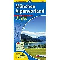 ADFC-Regionalkarte München Alpenvorland mit Tagestouren-Vorschlägen, 1:75.000, reiß- und wetterfest, GPS-Tracks Download (ADFC-Regionalkarte 1:75000)