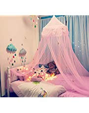 Mosquito Net Bed Canopy Curtains Princess Mosquito Net Lace Dome Bed Canopy for Children Fly Insect Protection Indoor Outdoor Decorative