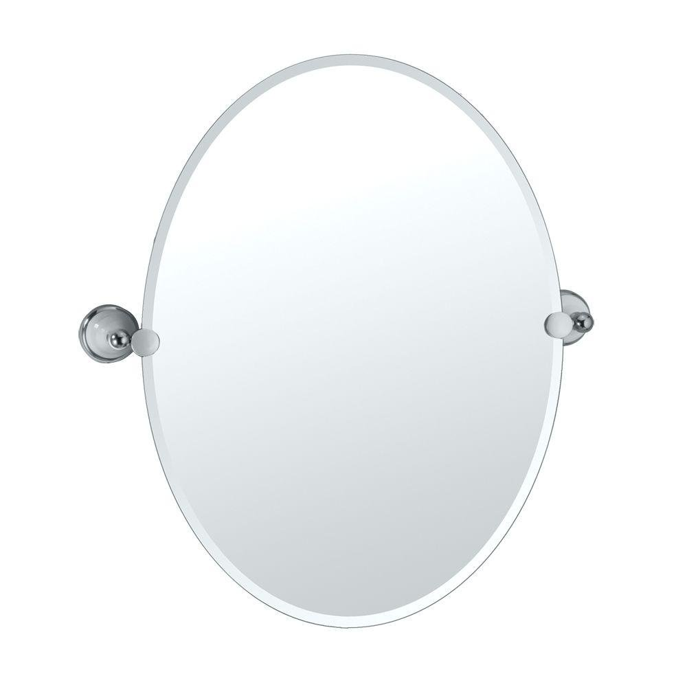 Amazon.com: Gatco 5726 Franciscan Oval Wall Mirror, Chrome: Home Improvement