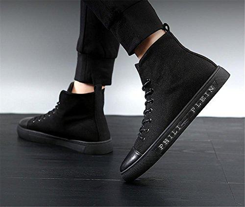 scarpe Black uomini tendenza inverno classiche per moda di casual autunno Tela scarpe Consiglio n7gqP15I