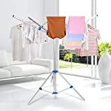 Collapsible Umbrella Clothesline Dryer - Hang Wet or Dry Laundry...