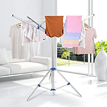 Collapsible Umbrella Clothesline Dryer Portable Clothes Rack  Hang Wet Or  Dry Laundry For Indoor Outdoor