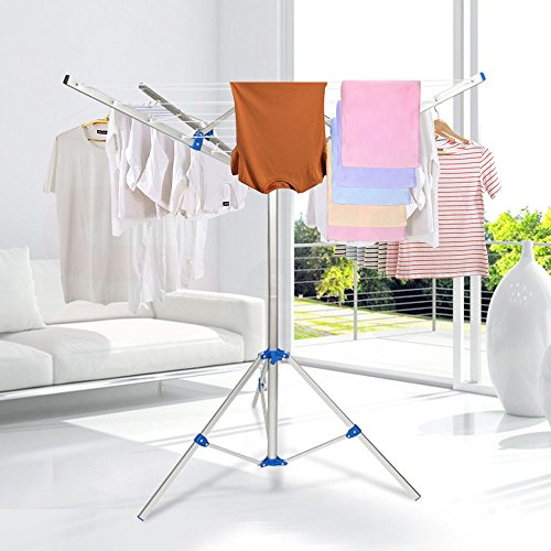 Collapsible Umbrella Clothesline Dryer Portable Clothes Rack- Hang Wet or Dry Laundry for Indoor Outdoor Camping