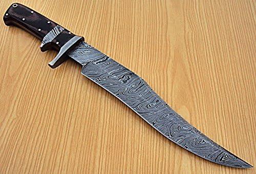 Poshland REG-L-1331- Custom Handmade Damascus Steel 15.5 Inches Full Tang Hunting Knife.