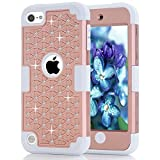 iPod Touch 5 Case, iPod Touch 6 Case, Anna Shop Diamond design 3in1 Combo Hard Shell Soft Silicone Plastic Hybrid Shockproof&Drop Resistance Protective Anti-slip Cover for Apple iPod Touch 5 6