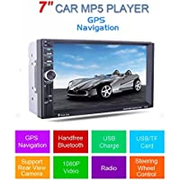 Fosa Audio 7021G Double Din, Touchscreen, Bluetooth, Navigation,Digital LCD Monitor 7 Bluetooth Car Video MP3 MP5 Player GPS Navigation Touch Screen FM Radio Rear-View Monitor