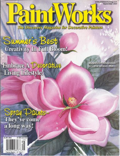 Paint Works - The Discovery Magazine for Decorative Painters (September - Pink Ribbon Framed