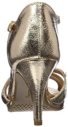 XTI 030568, Sandalias de Tacón Mujer Dorado (Oro)