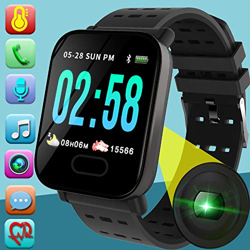 Fitness Tracker Watch with Heart Rate Monitor for Women Men / Smart Watch Phone Blood Pressure Monitor / Sport Watch with Pedometer Activity Tracker Calorie Sync Phone / Touch Screen Smart Watch (Best Smartphone For Fitness)