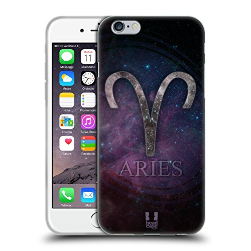Head Case Designs Aries Nebula Zodiac Symbols Soft Gel Case for Apple iPhone (Aries Head)