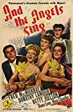 And the Angels Sing Poster Movie 11x17 Dorothy Lamour Fred MacMurray Betty Hutton Diana Lynn