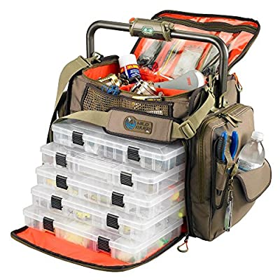 Wild River Frontier Lighted Bar Handle Tackle Bag W/5 Pt3700 Trays