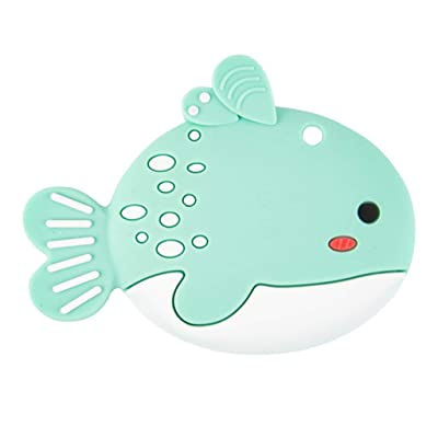 Simdoc Fish Baby Teether, Baby Teething Toy Silicone Teether Chew Toy : Baby