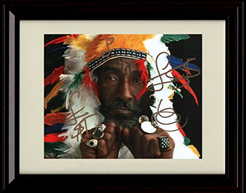 Framed Lee Scratch Perry Autograph Replica Print - Reggae