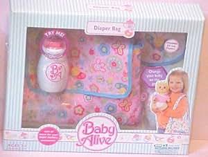 Amazon Com Baby Alive Hasbro Accessory Pack Diaper Bag