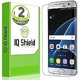 Galaxy S7 Edge Screen Protector, IQ Shield® LiQuidSkin (2-Pack) Full Coverage Screen Protector for Galaxy S7 Edge HD Clear Anti-Bubble Film - with Lifetime Warranty