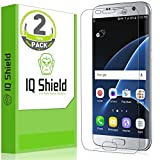 Image of IQ Shield Galaxy S7 Edge Screen Protector, LiQuidSkin HD Clear Anti-Bubble, 2-Pack