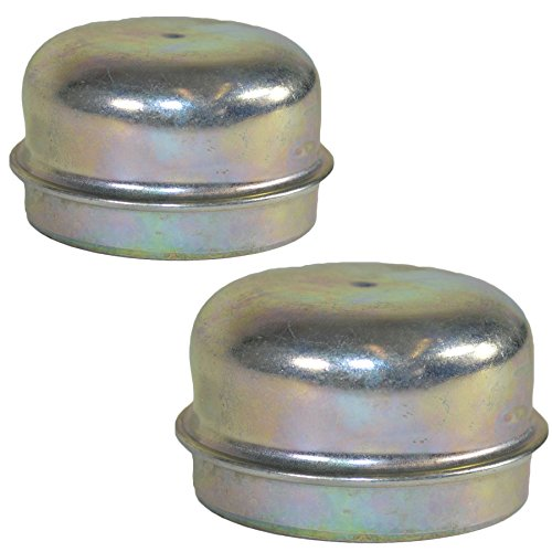 AB Tools 2 Replacement 50mm Metal Dust Cap Wheel Hub Trailer Bearing Grease Cover by AB Tools