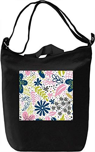 Nature Print Borsa Giornaliera Canvas Canvas Day Bag| 100% Premium Cotton Canvas| DTG Printing|