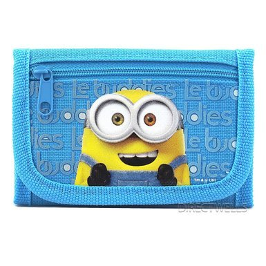 Despicable Me Minions Authentic Licensed Trifold Wallet - Sky Blue (1 Wallet)