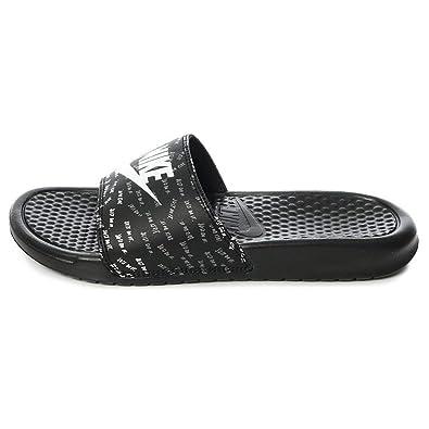 White Black Women Nike B Womens mUs 017Benassi Sandal6 618919 WHe2bEDIY9