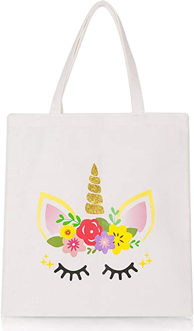 Amazon Com Unicorn Tote Bag Reusable Canvas Shopping Grocery School Bag Unicorn Gift For Girls Women Clothing