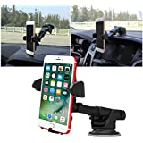 All Cart Car Phone Holder, 360 Degrees Rotation Car Phone Mount, Universal Adjustable with Strong Sticky Gel Pad