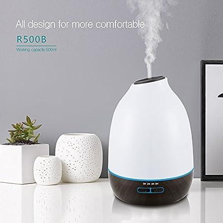 Hysure 500ml Aroma Diffuser Whisper Quiet Cool Mist