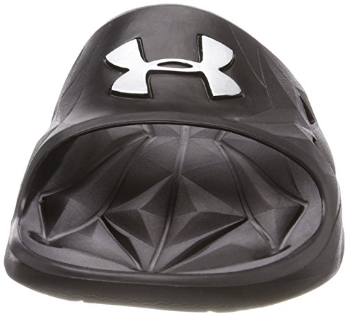 Under Armour Herren Locker III Slide Schwarzes Silber