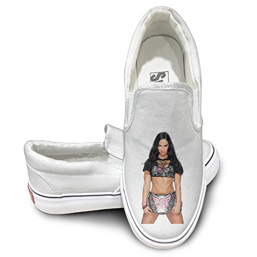 DHome WWE AJ Slip-on Unisex Flat Canvas Sneaker Shoes 44 White - Jack Reacher Chronological Order