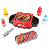 AMPERSAND SHOPS Toy Hotdog Barbecue Electric Grill with Toy Foods and Lights and Sounds