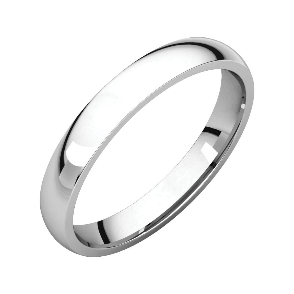 Jewels By Lux 10k White Gold 3mm Light Comfort Fit Mens Wedding Ring Band Size 14.5