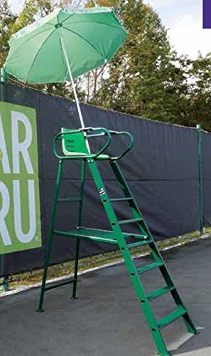 Tennis Court Accessories - ROYALE DELUXE UMPIRE CHAIR - WITH UMBRELLA (132-3601GN)