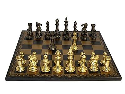 Solid Brass Staunton Chess Set