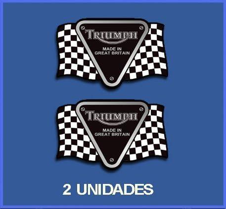 10 cm Dp254 Autocollants Adesivi Moto Decals Ecoshirt AQ-KHNL-W3PP Stickers Triumph Ref