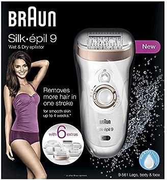Braun Silk-épil 9 9-561 - Depiladora para mujer con tecnología Wet ...