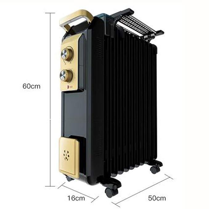 ZZHF Calentador, radiador Lleno de Aceite 2000W 13 Disipador ...