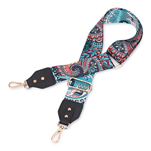 Louty 2'' Wide Adjustable Handbag Purse Strap Replacement Guitar Style Multicolor Canvas Crossbody Bag Straps by LOUTY (Image #3)