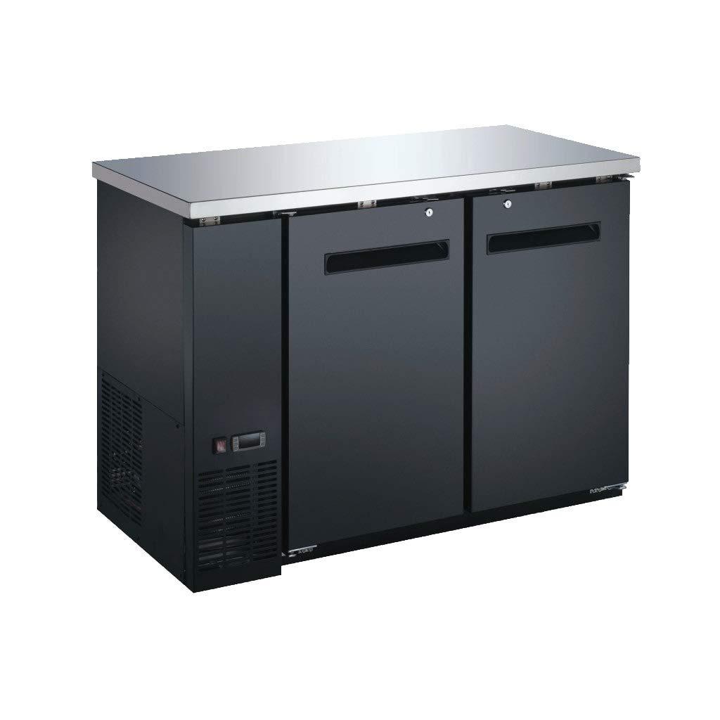 48' Solid Door Commercial Back Bar Cooler - Beer Fridge - Counter Height Refrigerator