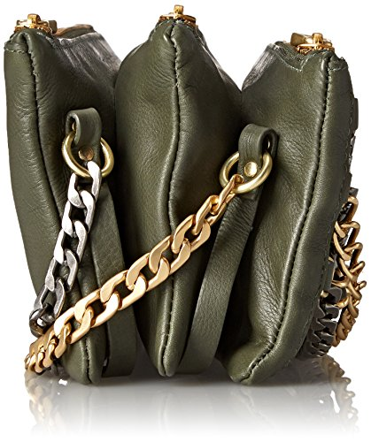 Domino Ash Convertible Green Cross Chain Bag Body Army w64qT6dv