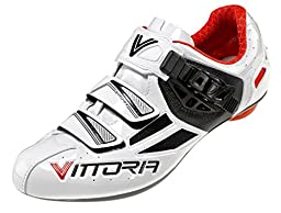 Vittoria Speed Cycling Shoes, White/Red, 38 EU/6 D US