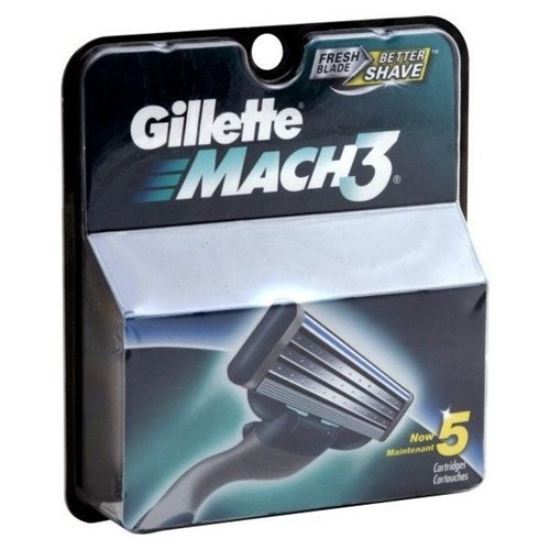 Gillette Mach3 Cartridges 5CT (Pack of 12)