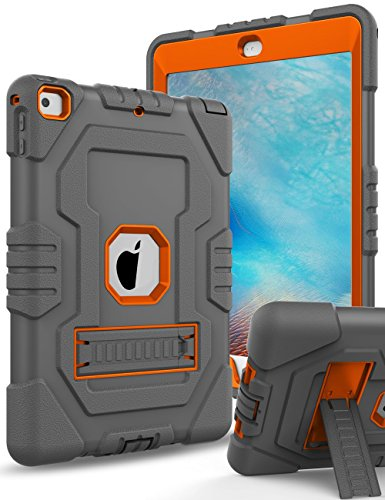 New iPad 2017,iPad 9.7 Case,Topsky Three Layer Kickstand Sof
