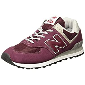New Balance Women's 574v2 Evergreen Lifestyle Sneaker, Burgundy, 8 B US