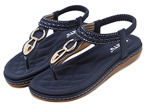 apricot Sandals Strap Flat Thong Insun Women's Ankle qwYR8H