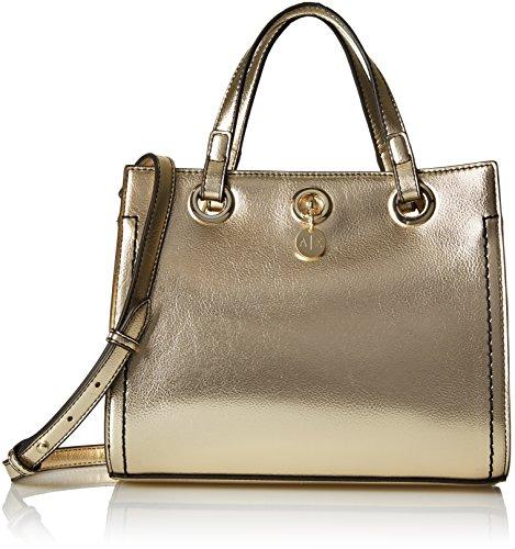 A|X Armani Exchange Metallic Small Shopper, - Womens Armani Exchange For Bags